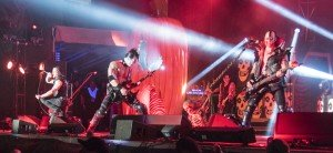 The original Misfits -- from left: Glenn Danzig (vocals), Doyle Wolfgang von Frankenstein (guitar) and Jerry Only (bass) -- played to a packed house Sunday night at Riot Fest in Denver.