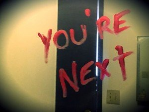 Halloween Spooky Bloody Mirror