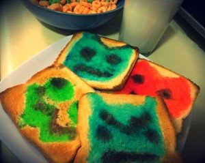 Monster decorated toast