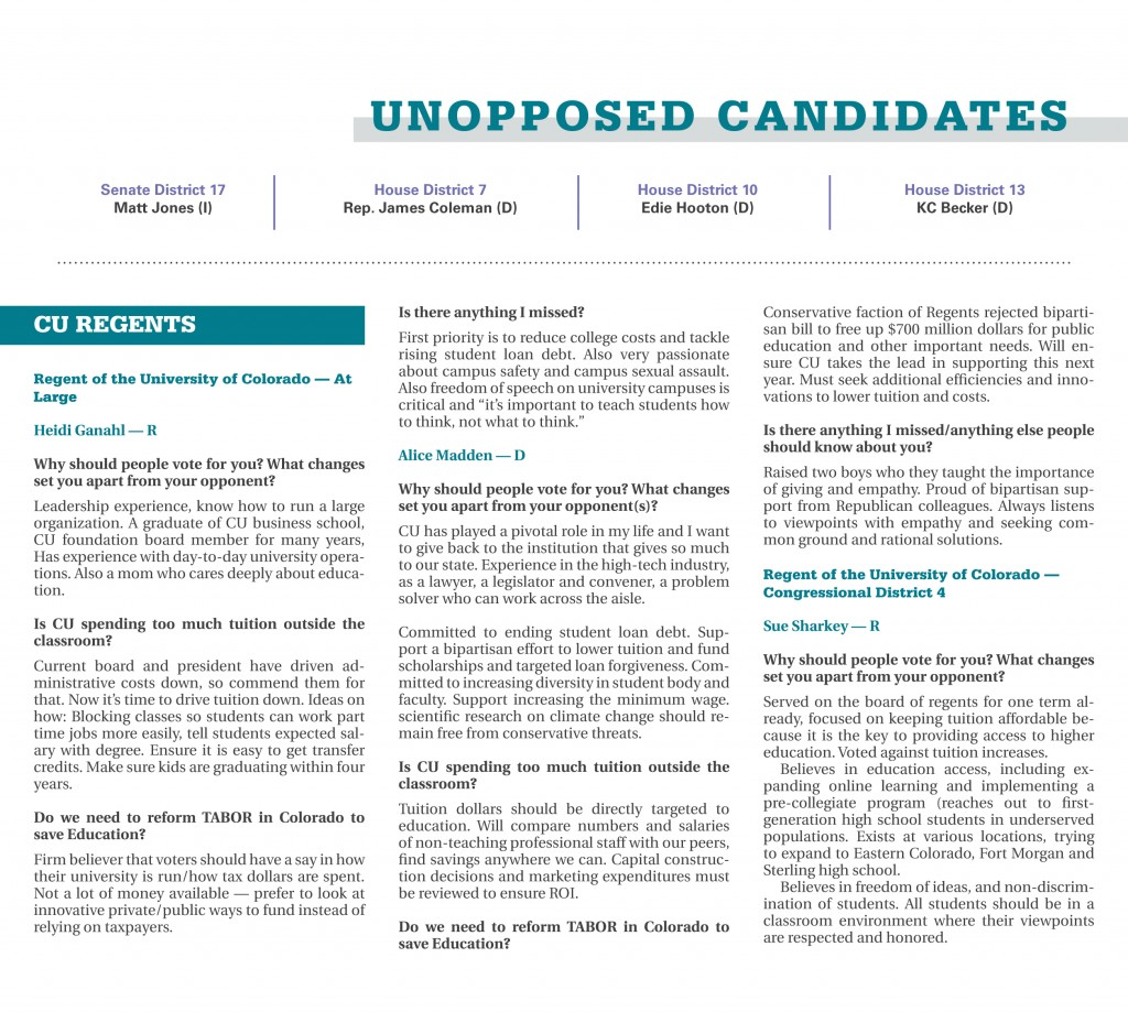 Unopposed Candidates 2016 Election