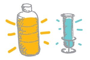 bottle and test tube drawing
