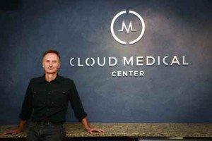 Dr. David Tusek in his Boulder office.