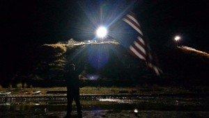 Standing Rock - Waving American Flag