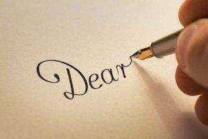 Dear in script