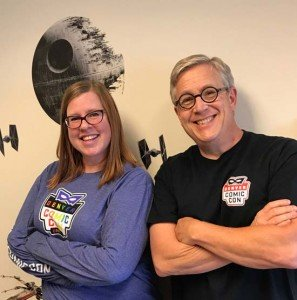 Left to right: Denver Comic Convention Director Christina Angel and Director of Programming Bruce MacIntosh. Photo courtesy of Christina Angel.