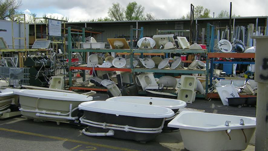 Recycled items at Bud's Warehouse in Aurora show that treasures can be found everywhere. Photo courtesy of Bud's Warehouse.
