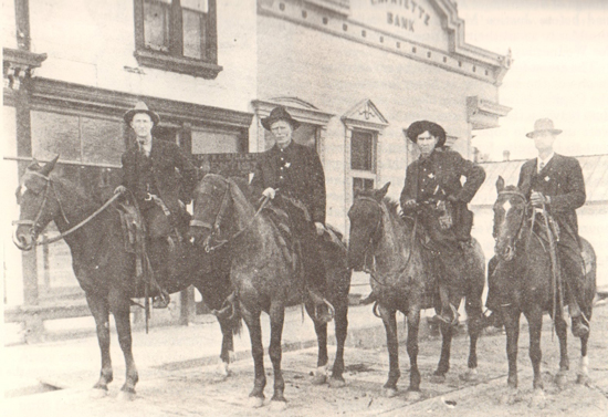 Lafayette Sheriff's deputies in 1912, during the Long Strike. Photo Courtesy of Lafayette Historical Society