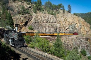 "The Durango & Silverton Narrow Gauge Railroad, which was featured in ""Butch Cassidy and The Sundance Kid."""