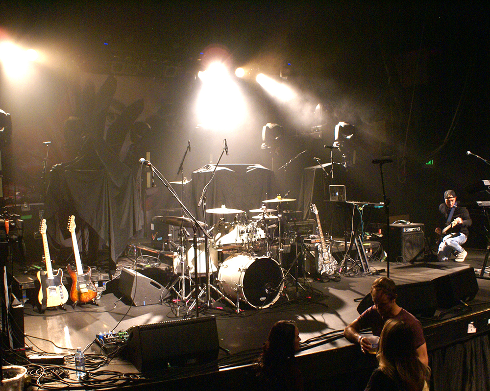 Show setup, Leilani Wolfgramm, Aggie Theater, Ft. Collins, By De La Vaca for YS Magazine
