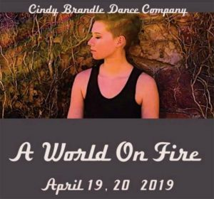 "One to watch is Cindy Brandle Dance Company's A World on Fire, premiering April 19 - 20 at The Dairy Arts Center. This work takes on ""social..."