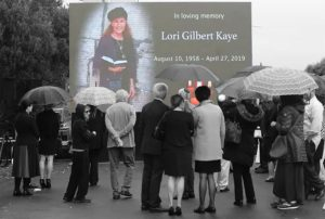One more dead Jew. Her name was Lori Gilbert-Kaye. She was a congregant at Chabad of Poway near San Diego, CA, in synagogue for a Shabbat service on...