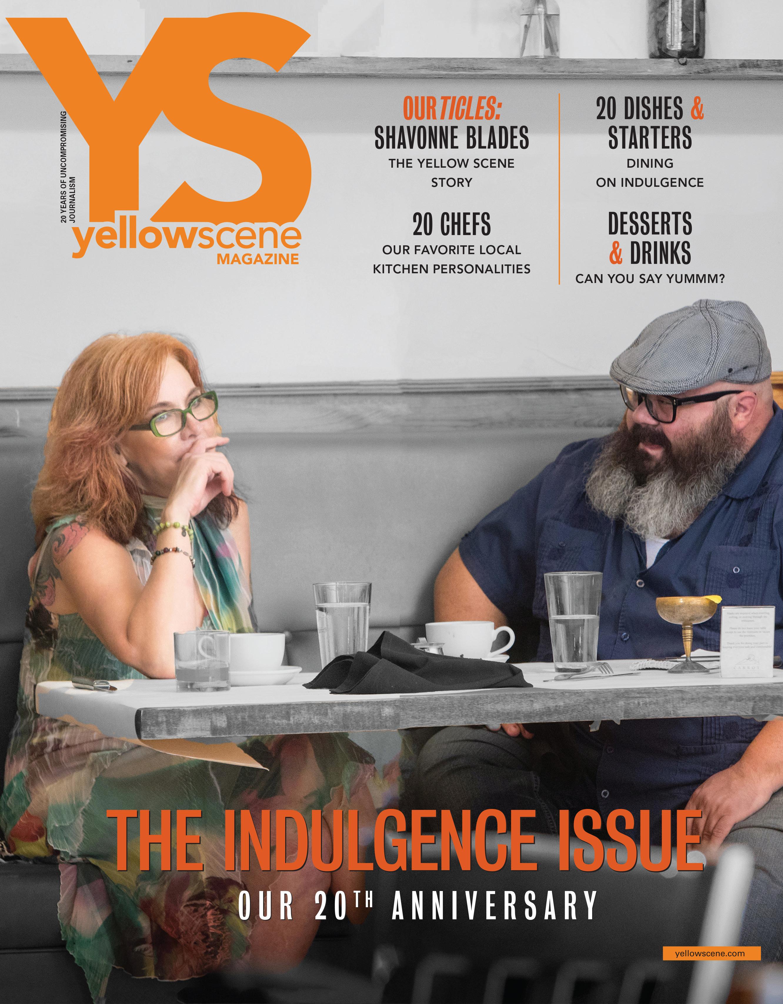yellow scene  magazine cover for September 2020