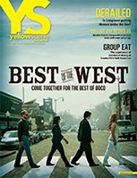 yellow scene  magazine cover for April 2012