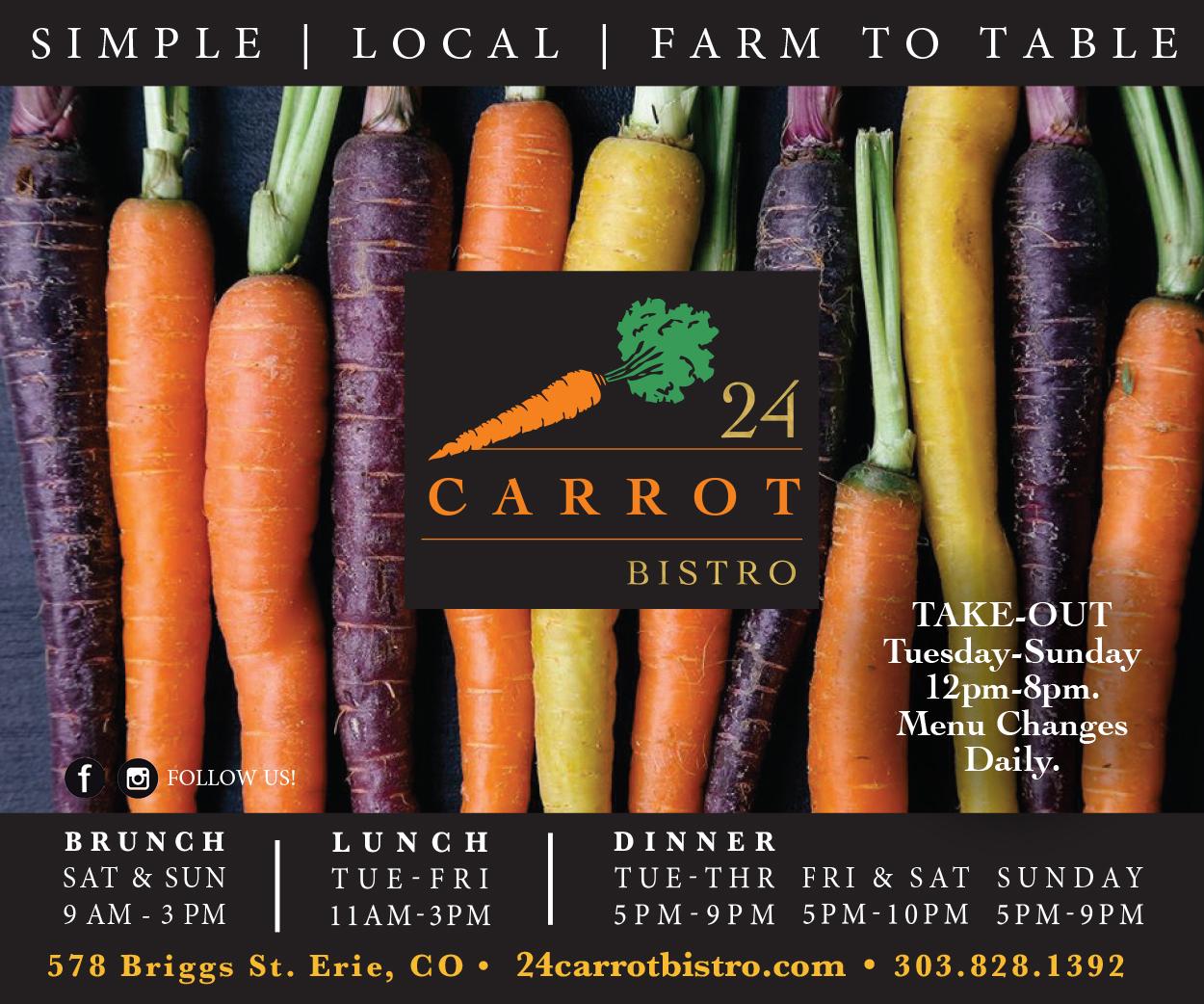 Visit  24 Carrot Bistro