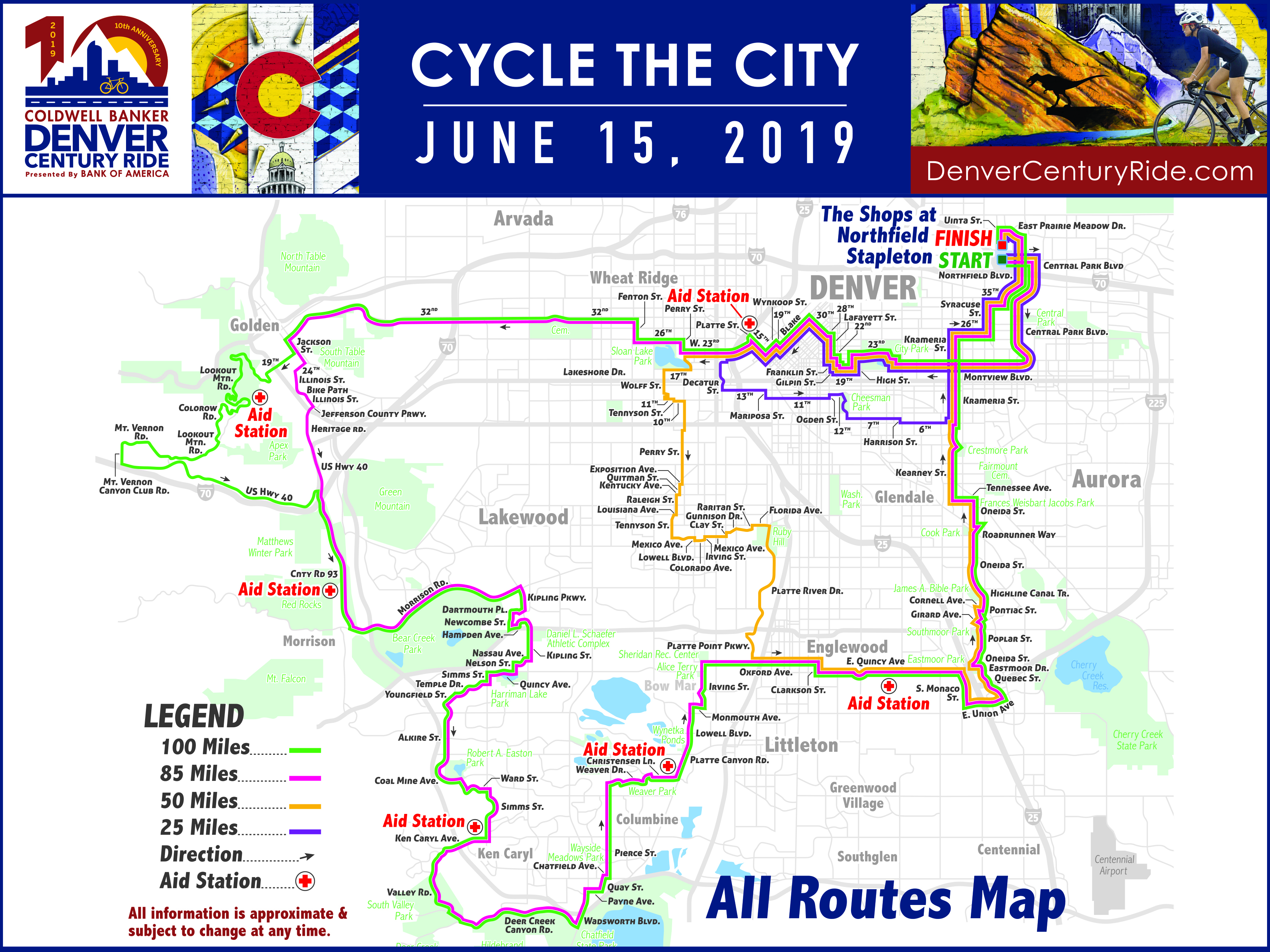 Visit  Denver Century Ride