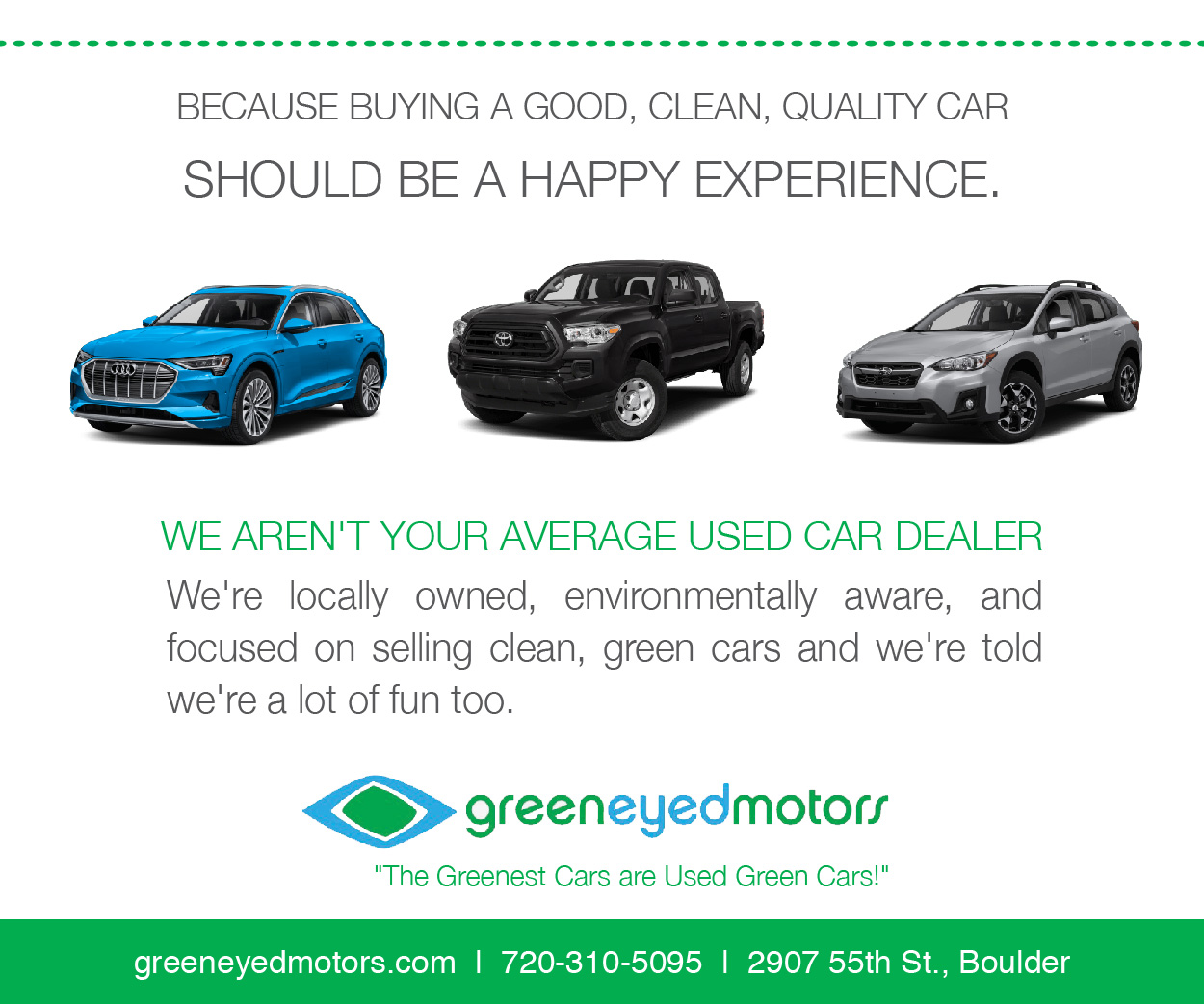 Visit  Green Eyed Motors
