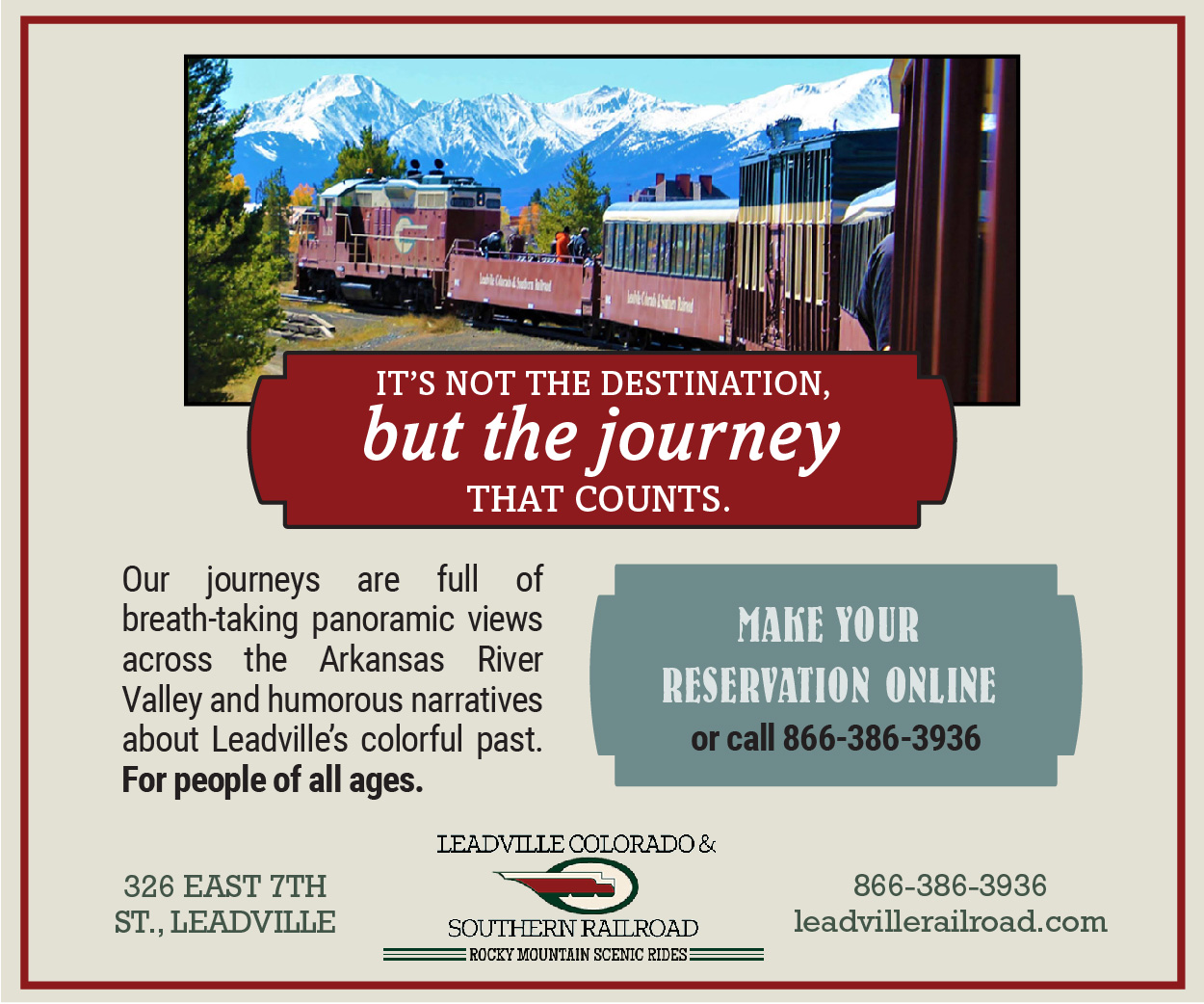 Visit  Leadville, Colorado & Southern Railroad (Leadville Train)