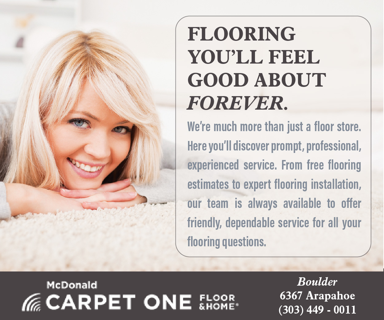 Visit  McDonald Carpet One