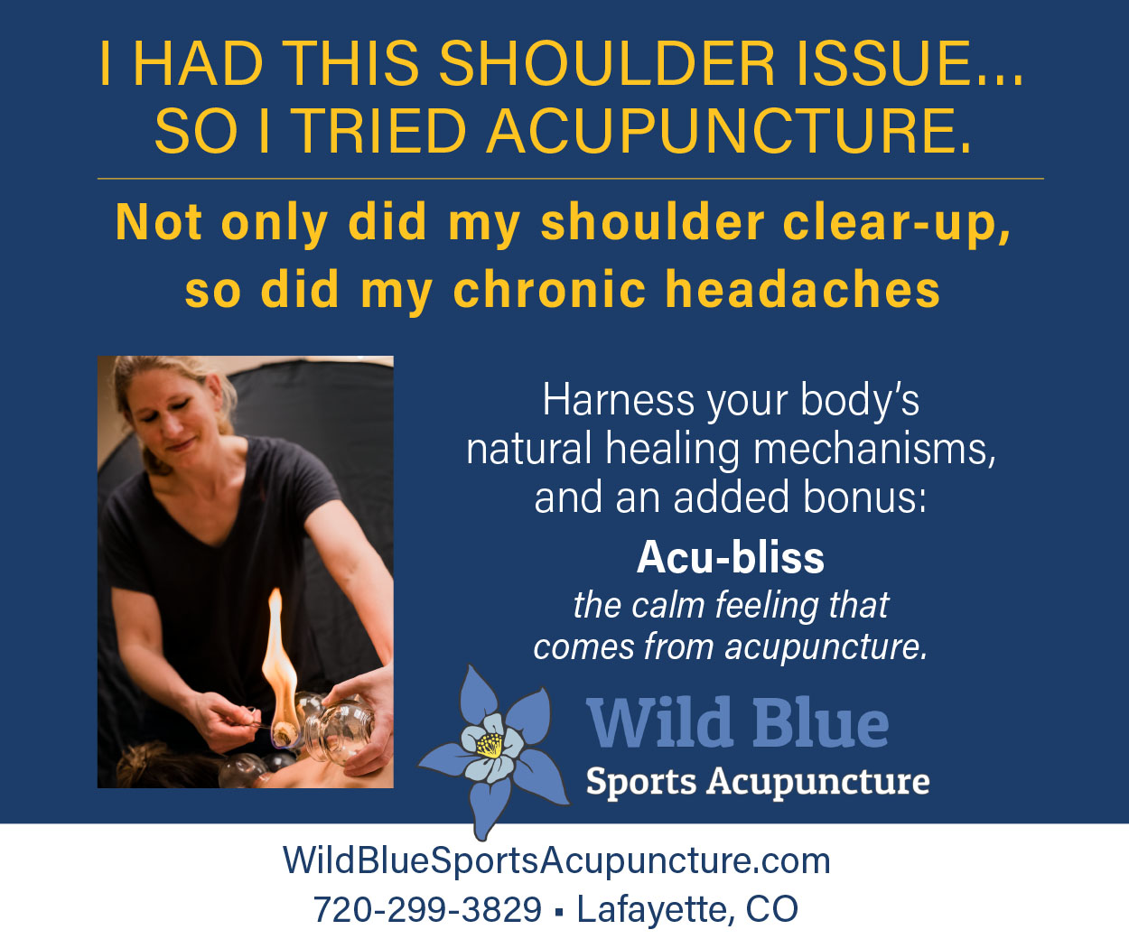 Visit  Wild Blue Sports Acupuncture
